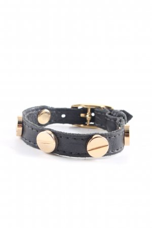 CC Skye Leather Bracelet black-gold-colored casual look