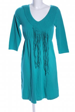 CCDK Fringed Dress turquoise casual look