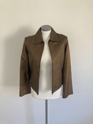 CCDK Leather Jacket brown-bronze-colored leather