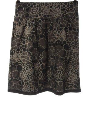 CCDK High Waist Skirt light grey-black allover print elegant