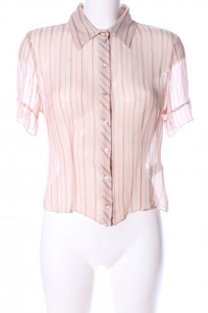 CCDK Transparenz-Bluse creme-pink Allover-Druck Business-Look