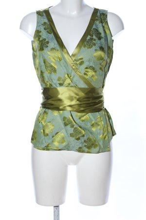 CCDK Wraparound Blouse green silk