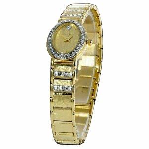 Carpe Diem Montre avec bracelet métallique jaune fluo métal