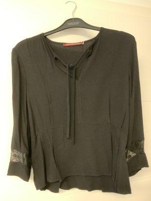 Comptoir des Cotonniers Blusa con lazo negro Viscosa