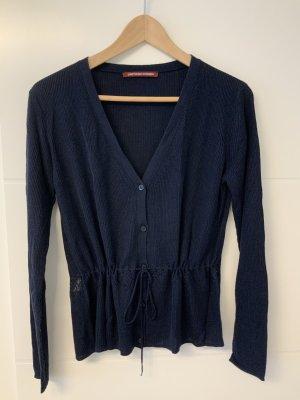 Comptoir des Cotonniers Szydełkowany sweter ciemnoniebieski