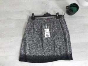 Comptoir des Cotonniers Wraparound Skirt black-white silk
