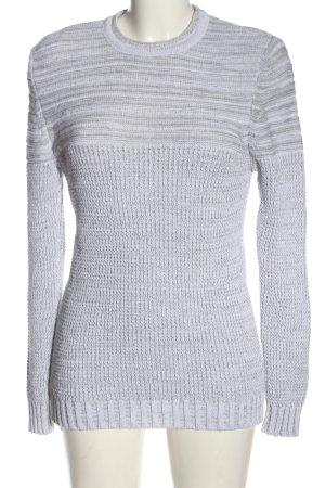 CeCe Long Sweater light grey flecked casual look