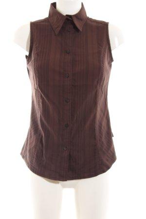 Cecil ärmellose Bluse braun Streifenmuster Business-Look