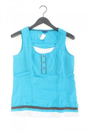 Cecil Sleeveless Blouse turquoise cotton