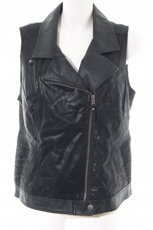 Cecil Biker Vest black casual look