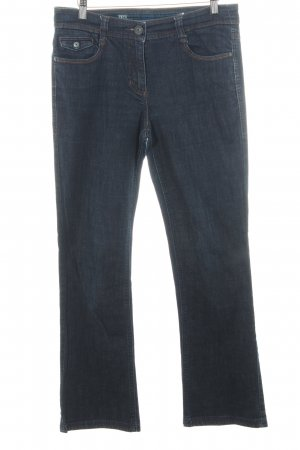 Cecil Boot Cut Jeans blau Casual-Look