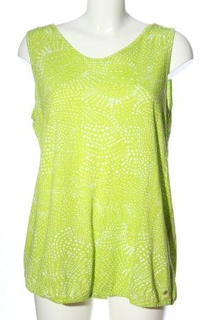 Cecil Camisole grün-weiß Casual-Look
