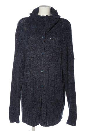 Cecil Cardigan schwarz-blau meliert Casual-Look