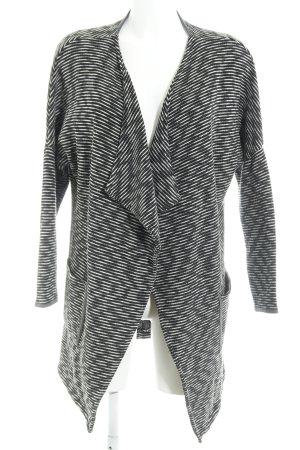Cecil Cardigan schwarz-weiß Streifenmuster Casual-Look