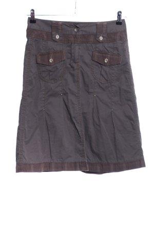 Cecil Falda estilo cargo gris claro-marrón look casual