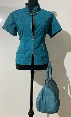 Cecil Gilet en jean bleu pétrole-bleu cadet coton