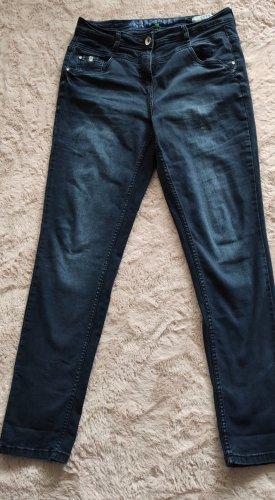 Cecil Jeans elasticizzati blu Cotone