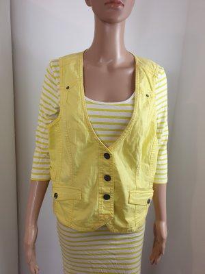 Cecil Smanicato jeans giallo Cotone