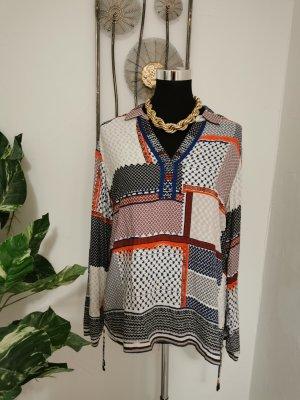 Cecil Damen Langarm Bluse Patchwork Muster Größe S