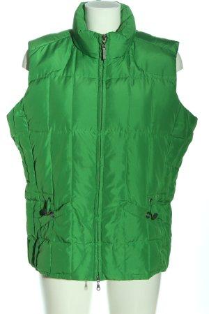 Cecil Chaleco de plumón verde estampado acolchado look casual