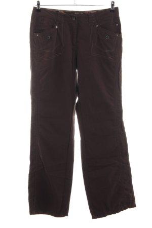 Cecil Pantalone cinque tasche marrone stile casual
