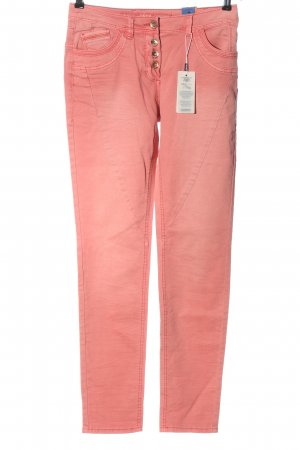 Cecil Pantalón de cinco bolsillos rosa look casual