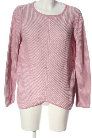 Cecil Gehaakte trui roze kabel steek casual uitstraling