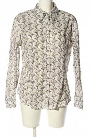 Cecil Hemd-Bluse weiß-braun abstraktes Muster Business-Look
