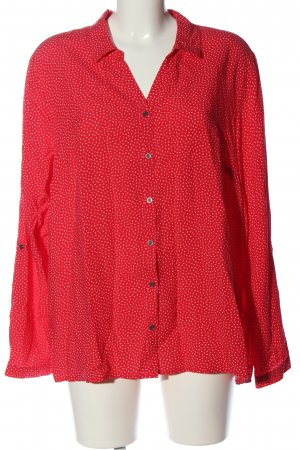 Cecil Hemd-Bluse rot-weiß Allover-Druck Business-Look