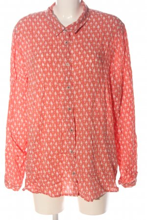 Cecil Hemd-Bluse pink-weiß Allover-Druck Casual-Look