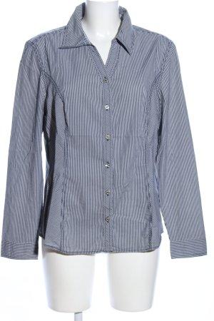 Cecil Hemd-Bluse schwarz-weiß Streifenmuster Casual-Look