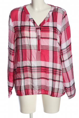 Cecil Hemd-Bluse pink-creme Karomuster Casual-Look