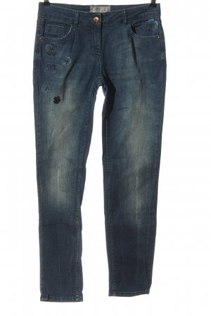 Cecil Jeans a vita alta blu stile casual