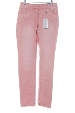 Cecil Hoge taille jeans lichtrood gewassen uitstraling
