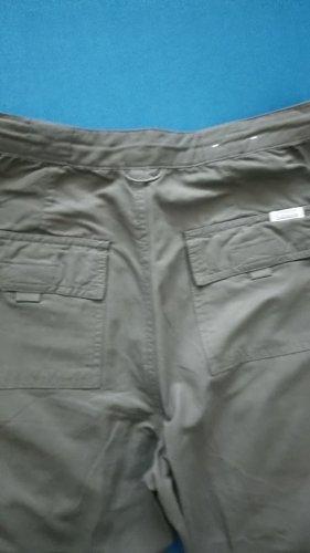 Cecil Spodnie khaki oliwkowy-khaki Tkanina z mieszanych włókien