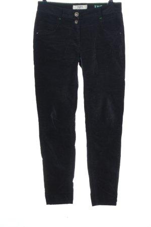 Cecil pantalón de cintura baja azul look casual