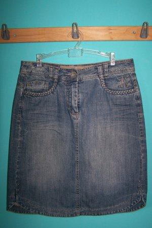 Cecil Denim Skirt blue cotton
