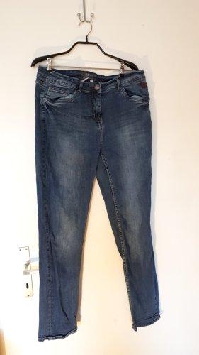 Cecil Jeansy z prostymi nogawkami szary niebieski-niebieski