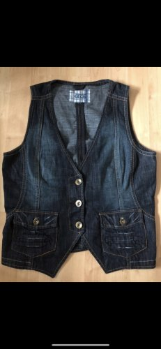 Cecil Smanicato jeans verde prato-blu scuro