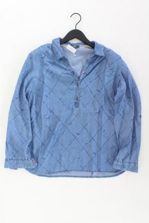 Cecil Jeansbluse Größe L Langarm blau aus Lyocell