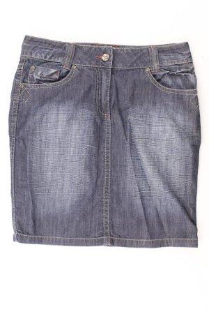 Cecil Denim Skirt blue-neon blue-dark blue-azure cotton
