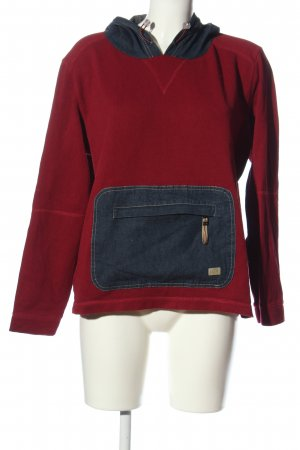 Cecil Capuchon sweater rood-blauw casual uitstraling