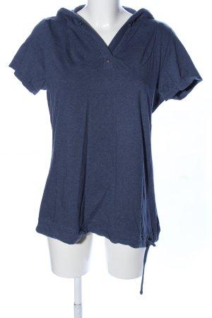 Cecil Top à capuche bleu moucheté style décontracté