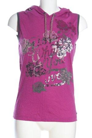 Cecil Top à capuche rose-gris clair imprimé avec thème style décontracté