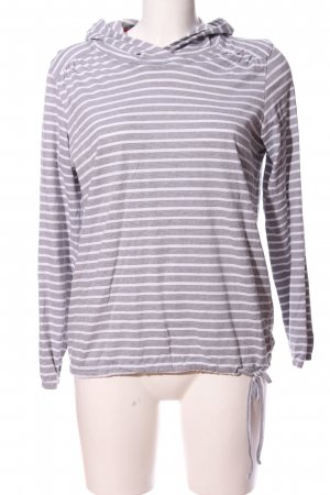 Cecil Hooded Sweatshirt light grey-white allover print casual look