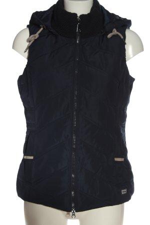 Cecil Capuchon vest blauw quilten patroon casual uitstraling