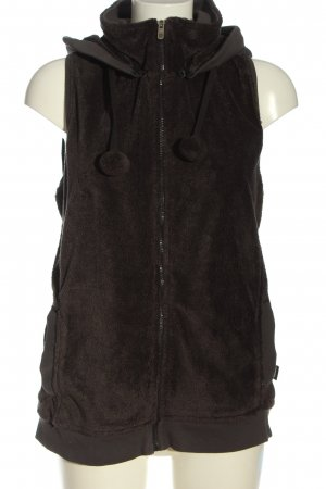 Cecil Capuchon vest bruin-lichtgrijs casual uitstraling