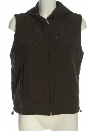 Cecil Hooded Vest brown casual look
