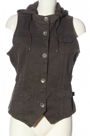 Cecil Hooded Vest light grey-brown casual look