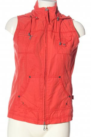 Cecil Kapuzenweste rot Casual-Look